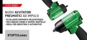 Nuovi avvitatori pneumatici super compatti serie KAAX per industria e automotive