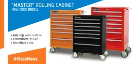 "NEW PRODUCT IN ""MASTER"" ROLLING CABINET FAMILY: AVAILABLE NEW CODE 8902.4 COLOR BLACK"