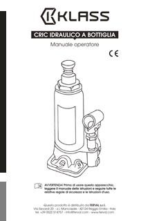 Cric Idraulico a Bottiglia - Manuale D'uso