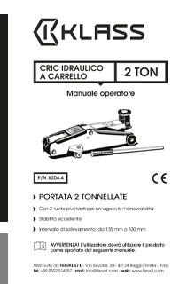 Cric Idraulico a Carrello - Manuale D'uso