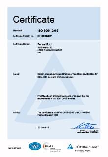 Ferval - Certificato ISO 9001:2015 DAKKS